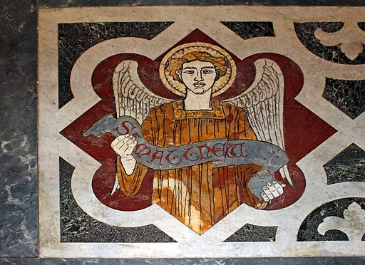 mosaic angel representing St. Matthew the Evangelist