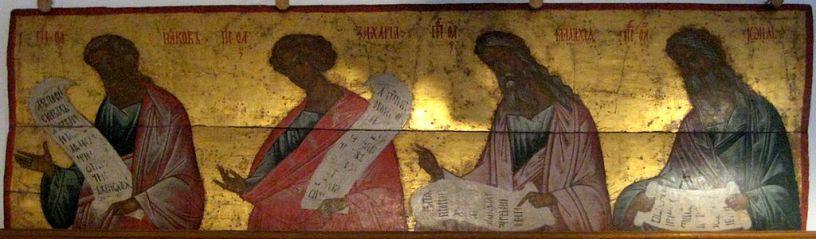 Prophets Jacob, Zechariah, Malachi, Joel in iconic style