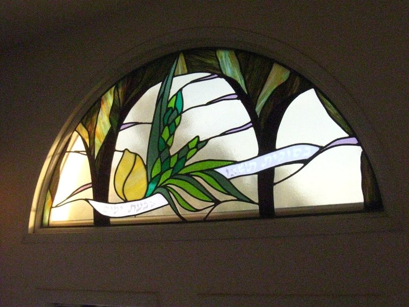 image of the four kinds in stained glass window