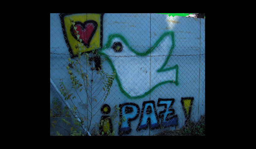 Paz image of dove and heart