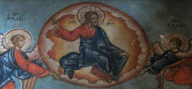 Jesus as Christ Pantocrator flanked by angels
