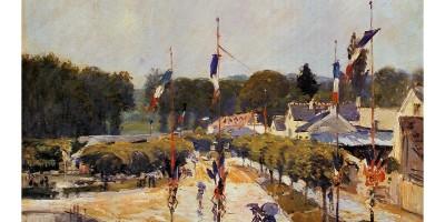 painting of July 14 celebration